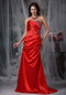 Sweetheart A-line Skirt Top Seller Prom Dress Scarlet Inexpensive