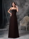 Brown Strapless Floor-length Prom Dress Discount Inexpensive