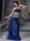 Unique Design Royal Blue Prom Dress With Lace Bodice Inexpensive