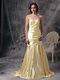 Mermaid Sweetheart Yellow Golden Prom Dress With Beading Inexpensive