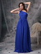 Single Shoulder Floor Length Royal Blue Prom Dress Pretty Inexpensive