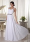 Cache White Pure Long Prom Dress For Foramal Evening Wear Inexpensive