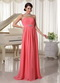 Watermelon Empire Chiffon Fabric Dress For 2014 Prom Wear Inexpensive