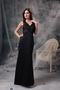 Open Back V-neck Floor-length Prom Dress With Black Lace Inexpensive