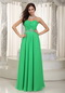 Floor-length Prom Dress For Women Spring Green Chiffon Inexpensive