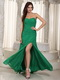 Sweetheart Neck Sexy Side Split Prom Gown Dark Green Inexpensive