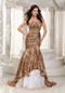 Mermaid Prom Dress Design With Leopard Printed Fabric Inexpensive