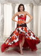 Colorful High-low Mermaid Prom Dress By Printed Fabric Inexpensive