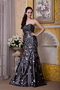 Black Strapless Sequins Decorate Purchase Prom Dress Online Inexpensive