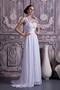 Lovely One Shoulder Sweetheart White Chiffon Dress Prom Gowns Inexpensive