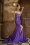 Sweetheart Chiffon Fabric Prom Dress In Purple Mermaid Skirt Inexpensive