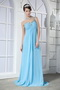 Light Aqua Blue One Shoulder Chiffon Fashion Prom Dresses 2014 Inexpensive