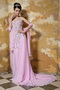 Rose Pink Empire Sweetheart Beading Celebrity Dress Made by Chiffon Inexpensive