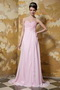 Empire Light Pink Chiffon Beaded Prom Dress With Sweethear Neckline Inexpensive
