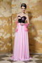Sweetheart Pink and Black Prom Dress Quality With Low Price Inexpensive