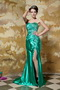 Green Strapless Side Split Sexy Prom Dress For Lady Wear Inexpensive