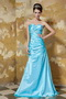 Sweetheart Floor-length Aqua Blue Taffeta Beading Party Dress Cheap Inexpensive