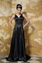 Black Column V-neck Sequins Different Prom Dresses For Celebrity Wear Inexpensive