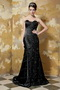 Black Sweetheart Beadings Emberllishments Formal Evening Dress Elegant Inexpensive