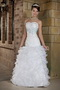 Custom Made Sweetheart Floor-length White Prom Dress With Blue Decorate Inexpensive