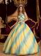 Ombre Contrast Fading Color Sweetheart A-line Chiffon Quinceanera Dress