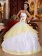 White Embroideried Flower Lovely Quinceanera Dress Gowns