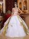 Elegant Sweetheart Quinceanera Dress With Golden Draping