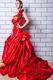 Exquisite Ruffles Straps Bubble Chapel Skirt Quince Party Dress
