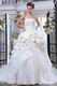 Gorgeous Applique Bead Bubble Layers Puffy Wedding Bridal Dress
