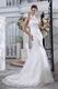 Ivory Lace Wedding Dress With Halter Mermaid Fishtail Skirt