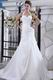 Halter Mermaid Chapel Train Ivory Taffeta Wedding Dress Cheap