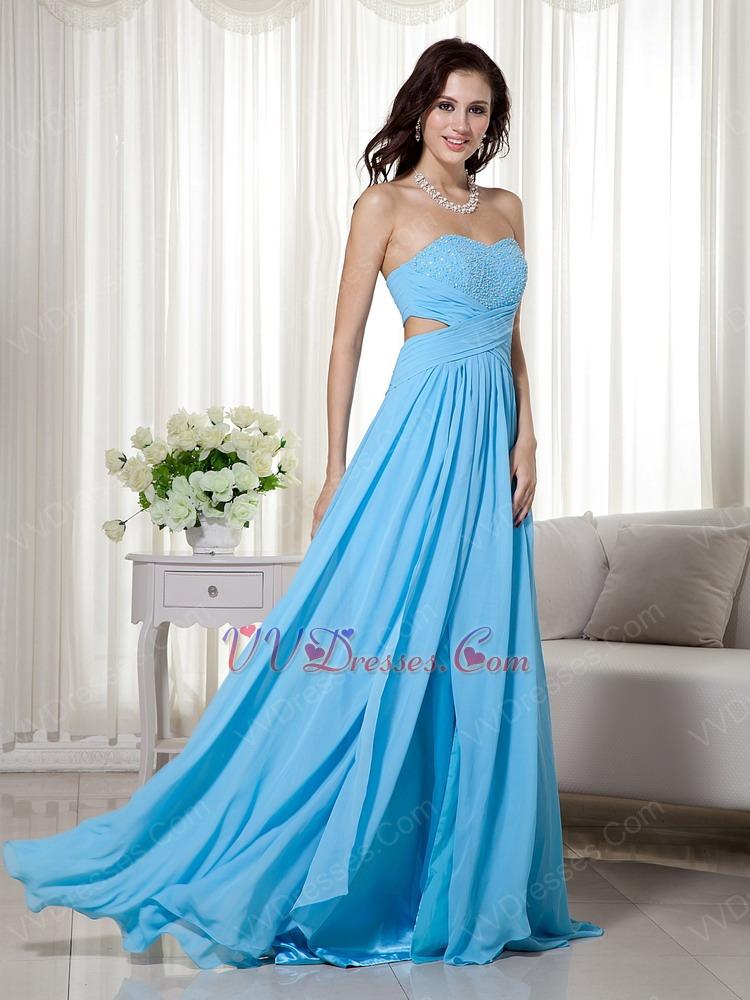 Prom dresses aqua blue color
