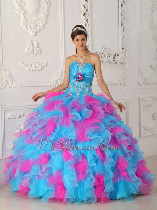 Hot Pink Ruffle Dress