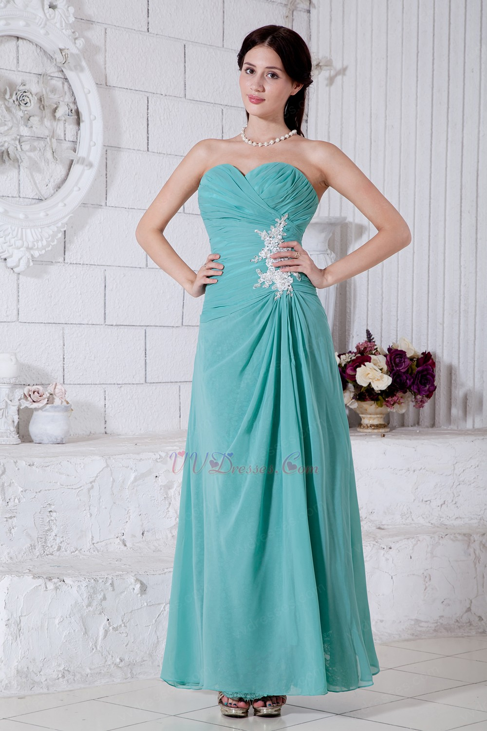 Empire long turquoise bridesmaid dresses appliques empire long turquoise bridesmaid dresses ombrellifo Image collections