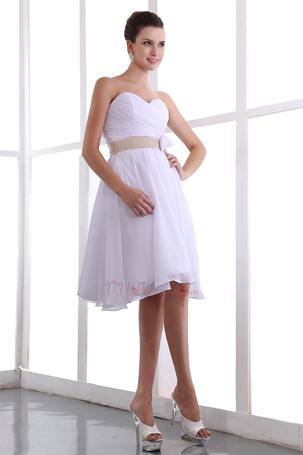 Short white chiffon bridesmaid dress under 100 dollars short white chiffon bridesmaid dress under 100 dollars powered by magic zoom move your mouse over image ombrellifo Image collections