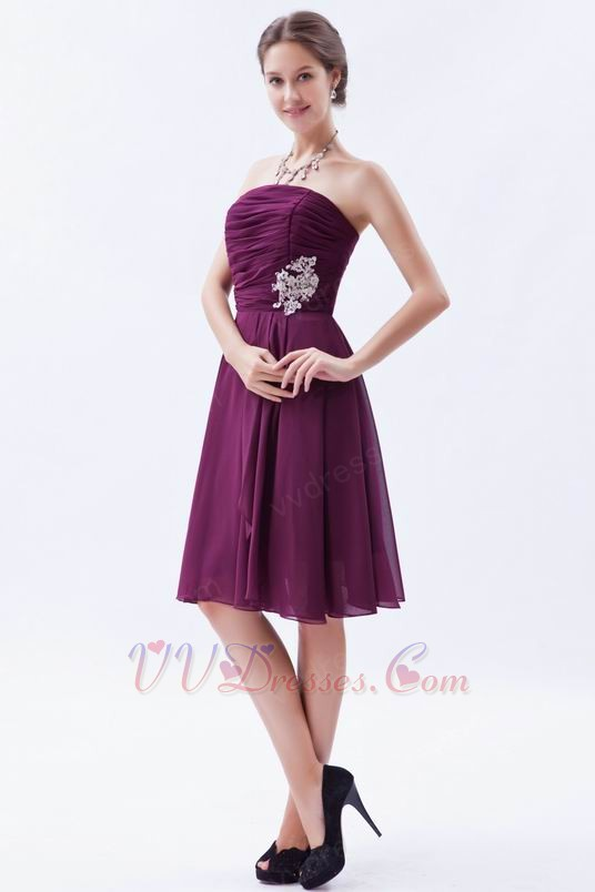 Inexpensive Plum Girl Bridesmaid Dress Under 100 Pounds