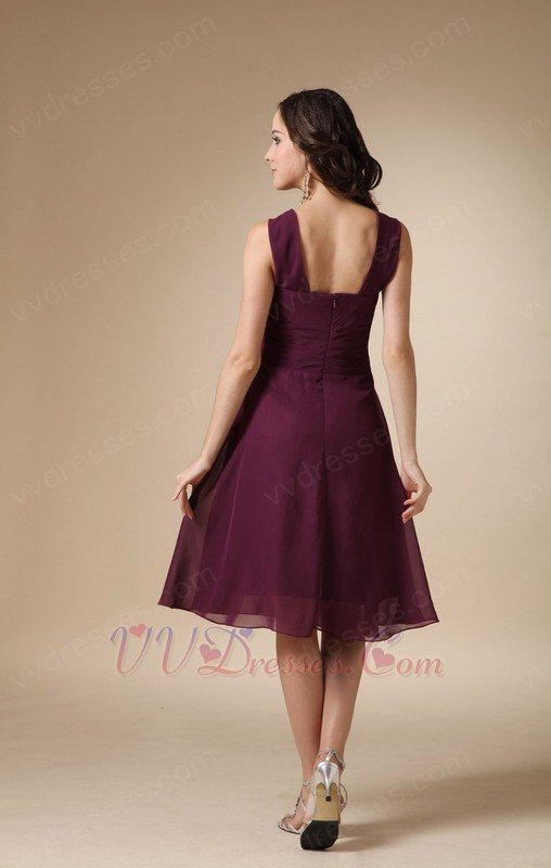 Beach Wedding Dresses In Purple : Purple halter skirt bridesmaid dress for beach wedding