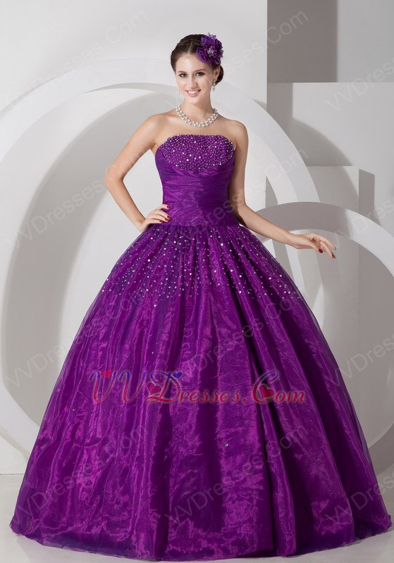 Dark Magenta Sweetheart Puffy Prom Ball Gown