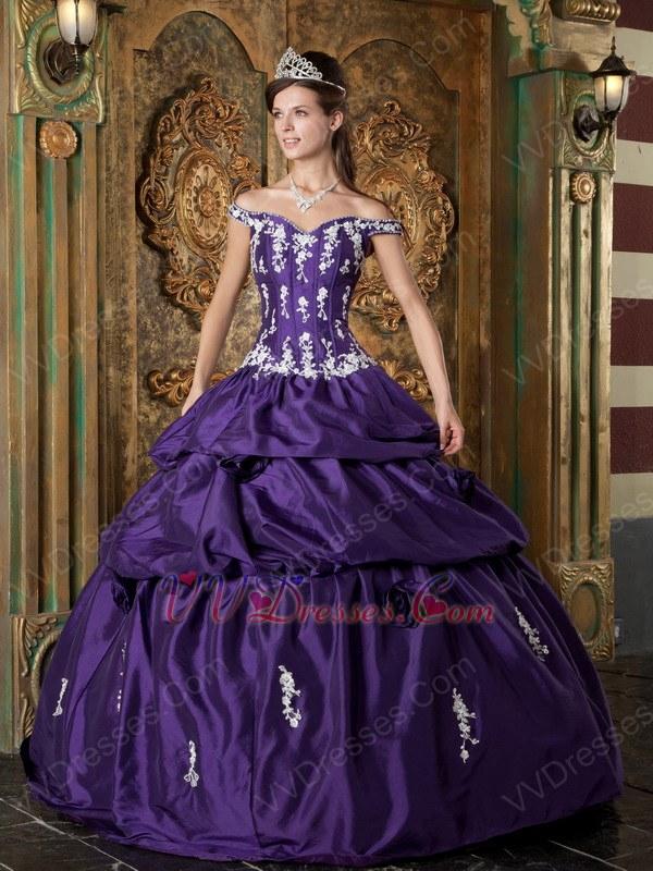 Blue Violet Quinceanera Dresses,Bright Purple Bridesmaid