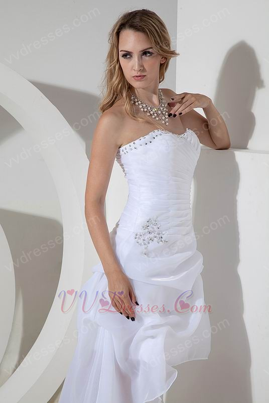 Stylish Beach Wedding Dresses : Stylish high low asymmetrica beach wedding dresses