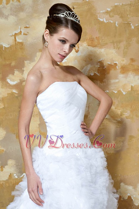 Strapless Mini Length Ruffles Skirt Short Wedding Dress Miami Romantic