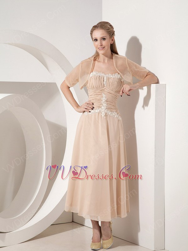 champagne mother of the bride dress with jacket