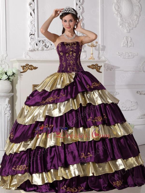 Purple Puffy Dresses