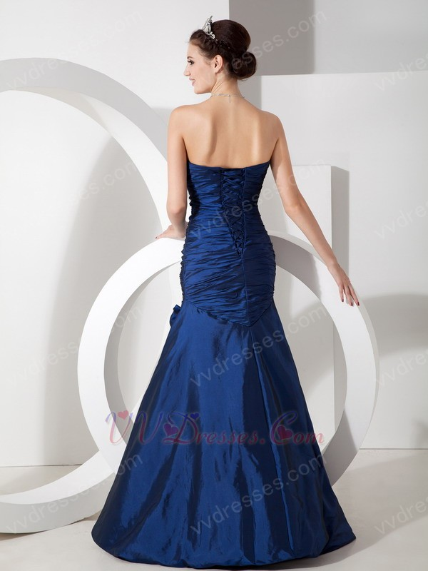 navy blue mermaid evening dress for 2014 prom wear