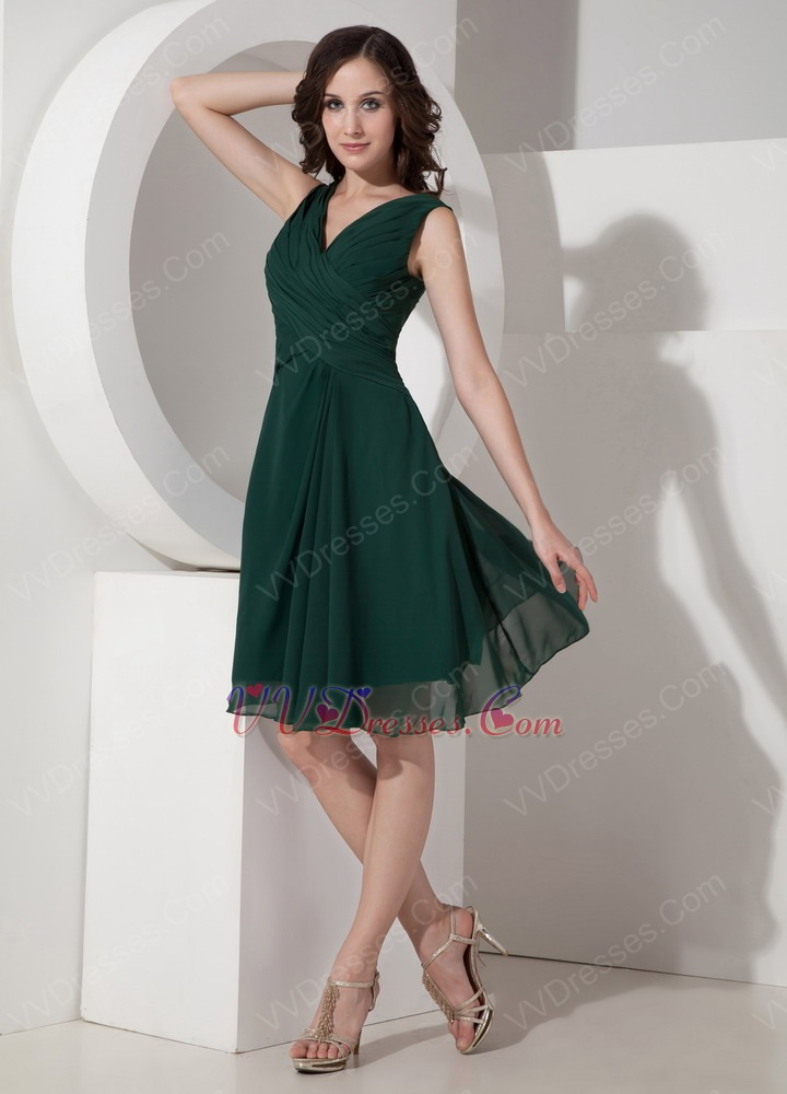 Dark Green Short Dress For 2014 Mother Of The Bride Cheap