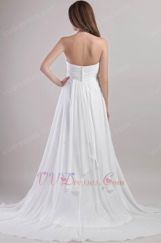 sweetheart chapel train white brand new 2014 prom dress