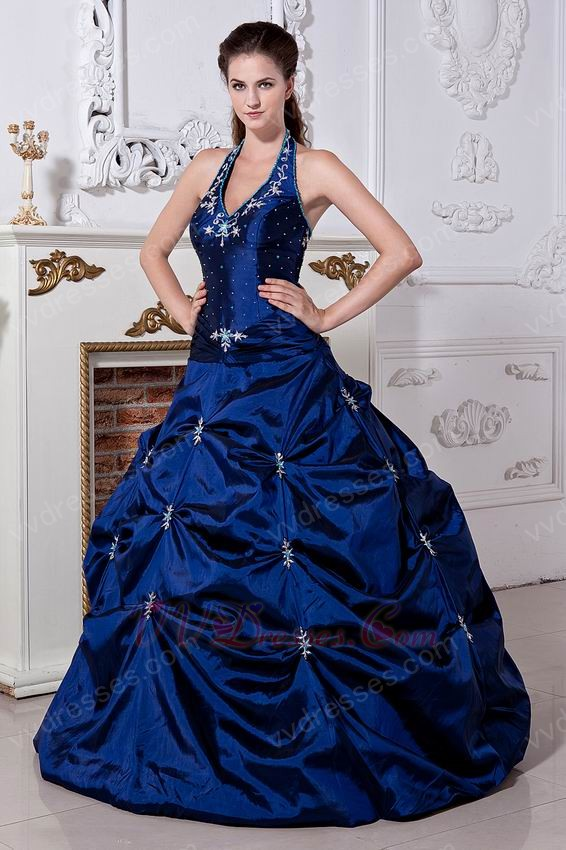 Blue Corset Prom Dress - Ocodea.com