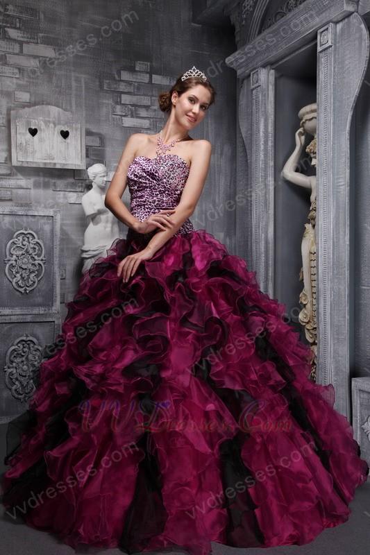Cheetah Print Quinceanera Dress