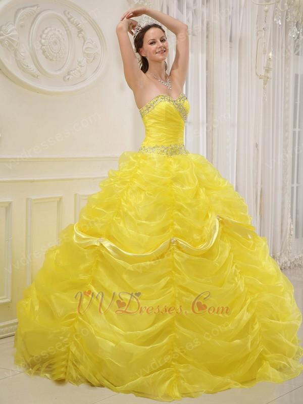 Neon coral quinceanera dresses