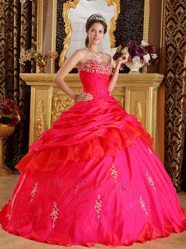Inexpensive Floor Length Fuchsia Pretty Quinceanera Dress